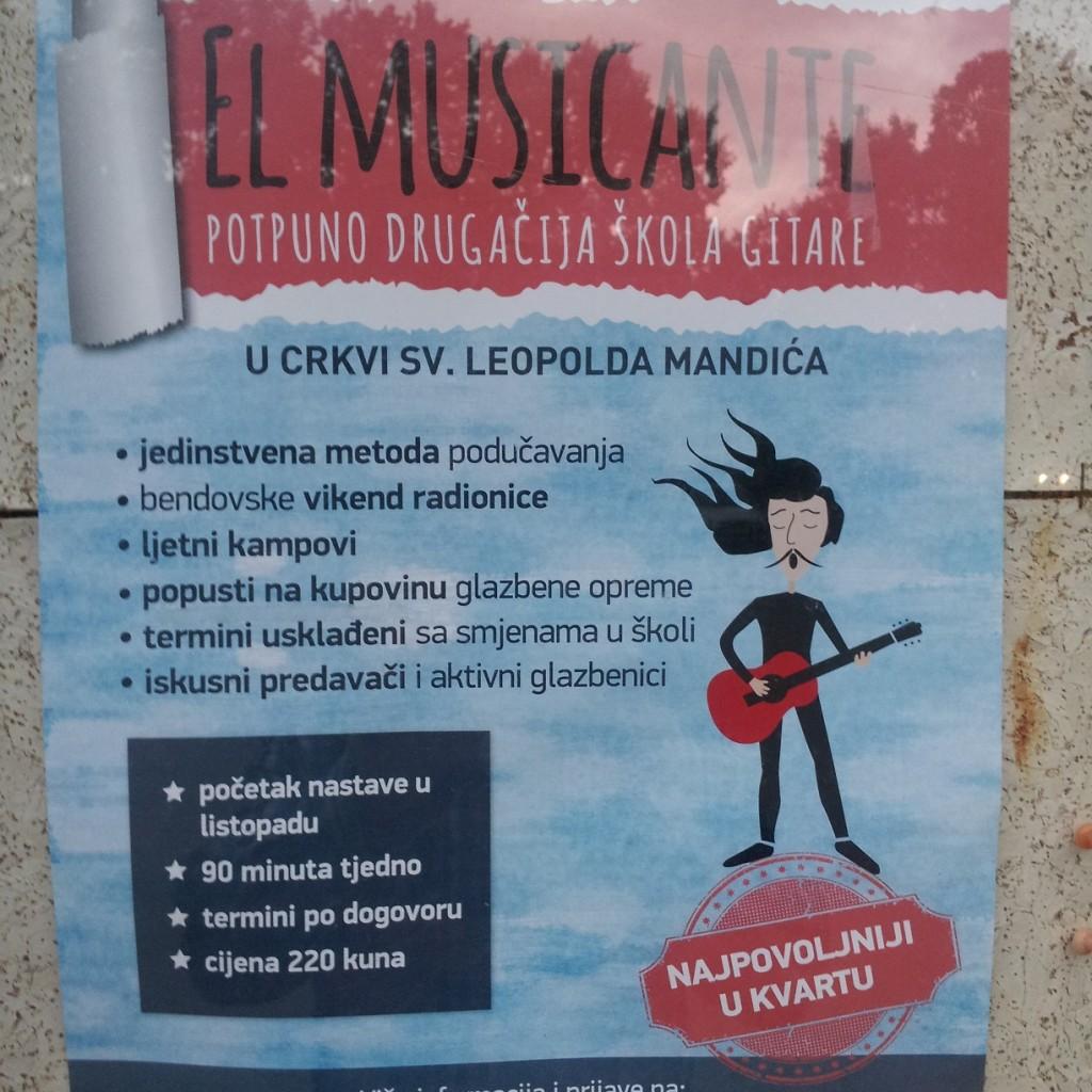 Plakat - škola gitare